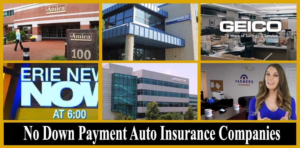 auto insurance companies that don't require down payment